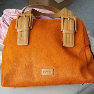 Prague Orange Calf Hair Bag